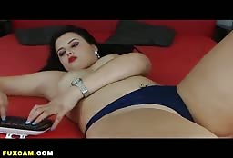Sexy Latin Hooker Playing With Her Favorite Red Dildo