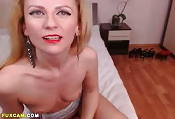 Alluring Topless Russian Escort Girl Drilling Her Pussy