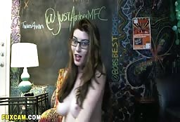 Gorgeous Nerdy Cam Model Teaching Her Fans Some Dirty Things