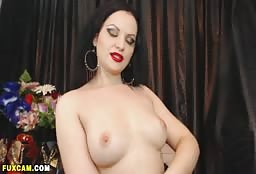 Incredible Busty Cam Model Playing With Her Hot Pussy
