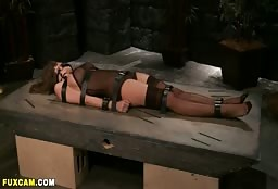 Incredible Big Titted Milf Tied Up For Some Sexy Fetish Fun
