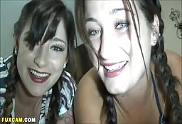 Sexy Lesbian Sisters Talking Dirty Into Their Webcam