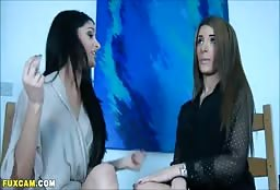 Hot Lesbians Teasing Each Other Before Having Sex